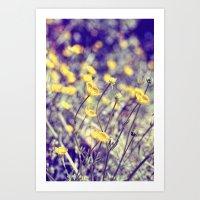 Woodland Yellows Art Print