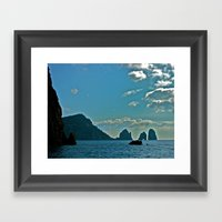 The Waters Of The Amalfi… Framed Art Print