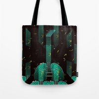 breathing music tonight Tote Bag