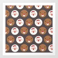 Day 19/25 Advent - Santa's Slaves III Art Print
