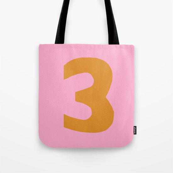 Number 3 Tote Bag