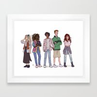 only 90's kids Framed Art Print