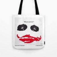 No245 My Dark minimal Knight movie poster Tote Bag