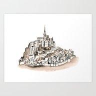 Le Mont St Michel Art Print