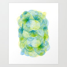 Space lime Art Print