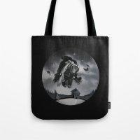 Monkey See Monkey Flew Tote Bag
