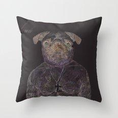 2 pug Throw Pillow