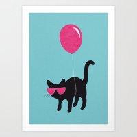 Cool Cat Travels Like Th… Art Print