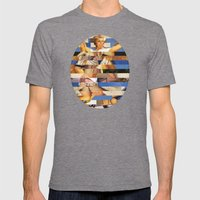 Glitch Pin-Up Redux: Queenie Mens Fitted Tee Tri-Grey SMALL