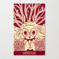 Canvas Print featuring Princess Mononoke by Andbloom