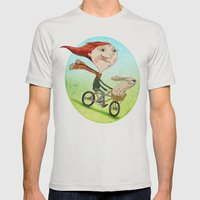 Bicicleta Mens Fitted Tee Silver SMALL