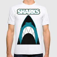 In the Jaws of the Sharks Mens Fitted Tee Ash Grey SMALL