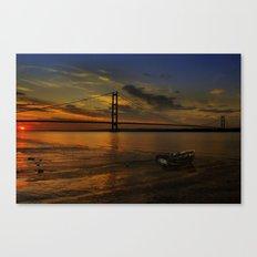 Humber Bridge Sunset 2012 Canvas Print