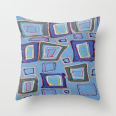 Newport Blue Throw Pillow