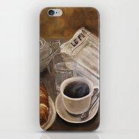 Petit déjeuner à Paris iPhone & iPod Skin