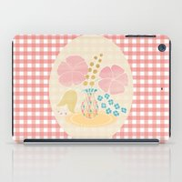 Hexagon floral 4 iPad Case