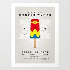 My SUPERHERO ICE POP - woman - No17 WONDER Art Print