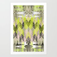 Arrow Neo Art Print