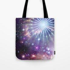 Cosmic Pinwheel Tote Bag