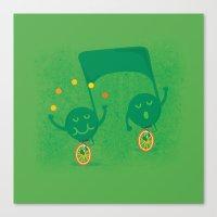 a fun musical note Canvas Print