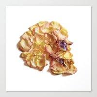 60. Flower Skull Canvas Print