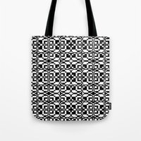 Black And White Tile 6/9… Tote Bag