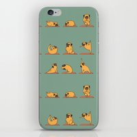 Pug Yoga iPhone & iPod Skin