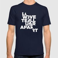 LOVE WILL TEAR US APART Mens Fitted Tee Navy SMALL