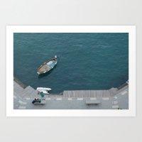 Blue Bay Art Print