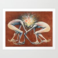 The Conjoined Collision … Art Print