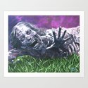 Bicycle Zombie, The Walking Dead Art Print