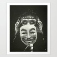lion Art Prints featuring Anonymous by Dr. Lukas Brezak