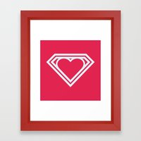 Superlove Framed Art Print