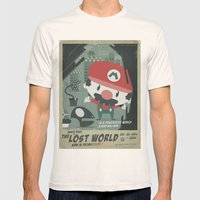 mario bros 4 fan art Mens Fitted Tee Natural SMALL