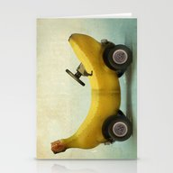 Stationery Cards featuring Banana Buggy by Vin Zzep