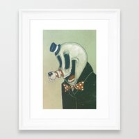 Cut Nose Framed Art Print