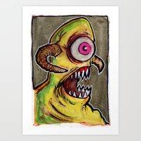 One Eyed Monster Art Print