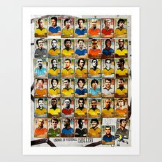 Legends of Football (Soccer). Art Print