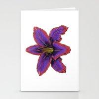 Stylized Lily Stationery Cards
