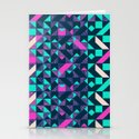 GEOMETRIC COLOUR POP Stationery Cards