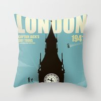 Captain Jack's Sky Tours Throw Pillow
