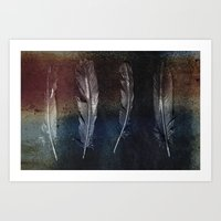 Rusty Feathers Art Print