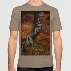 It's always sunny in philadelphia, charlie kelly horse shirt, black stallion Mens Fitted Tee Tri-Coffee SMALL