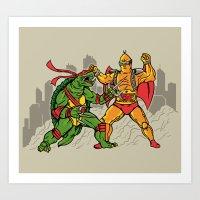 Teenage Mutant Gamera Ni… Art Print