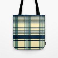 Blue Plaid Pattern Tote Bag