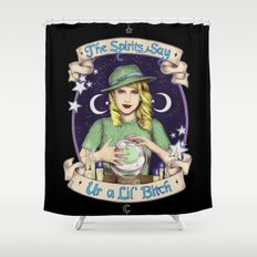 Mystic Miss Maggie Esmerelda (color) Shower Curtain