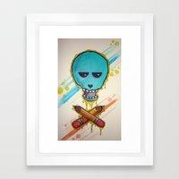 Art Skull Framed Art Print