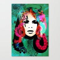 colorful hair Canvas Print