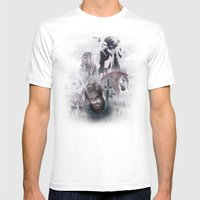 LEYEND Mens Fitted Tee White SMALL