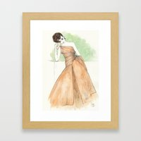 'Gillian' Watercolor Fas… Framed Art Print